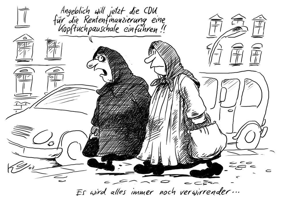 Bildergebnis für kopftuch karikatur