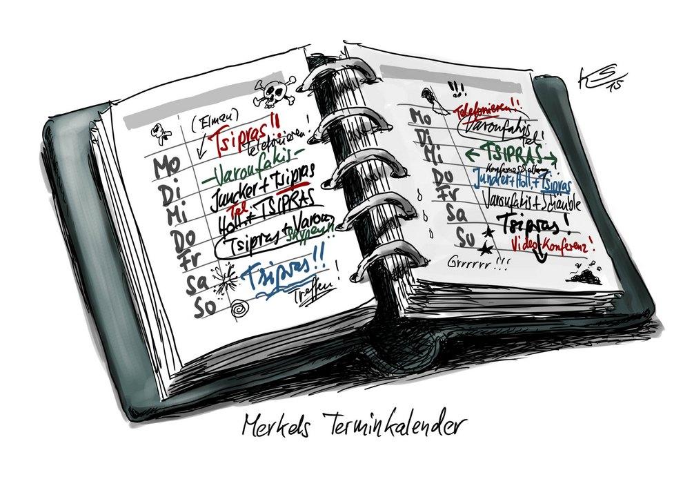 Bildergebnis für Terminkalender Karikatur